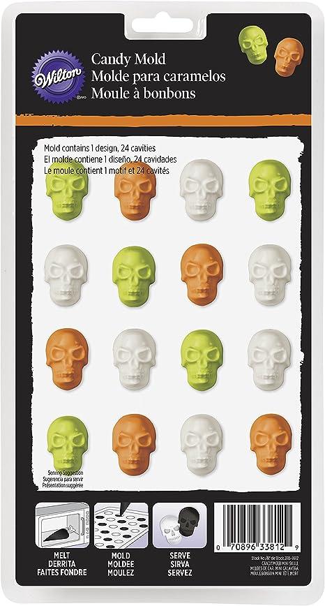 2104-1490 Wilton 7 3//4 inch Halloween Skull Ice Mold NEW