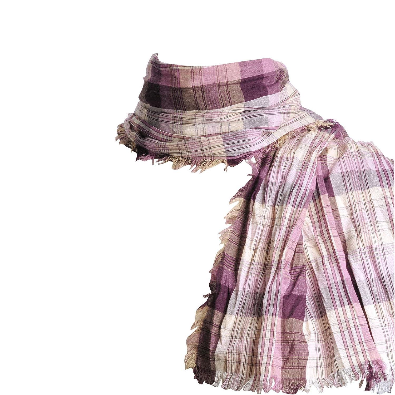 3aa0d02537f Allée du foulard Echarpe Madras pur coton MAUVE VIOLET  Amazon.fr   Vêtements et accessoires