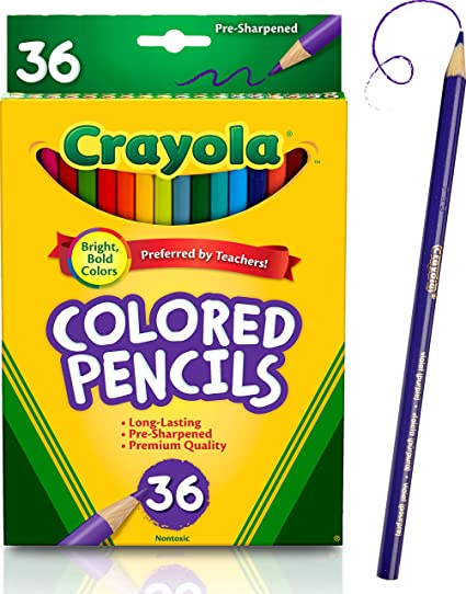 Amazon.com: Crayola Colored Pencils, 36 Premium Quality, Long ...