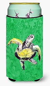 Caroline's Treasures 8671TBC Turtle Dancing Tall Boy Beverage Insulator Beverage Insulator Hugger, Tall Boy, multicolor
