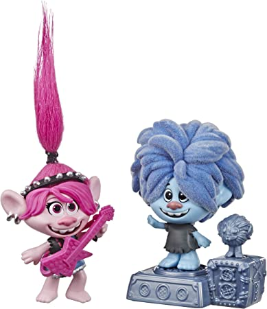 Trolls DreamWorks World Tour Rock City Bobble with 2 Figures, 1 with Bobble Action Plus Base, Toy Inspired by The Movie World Tour