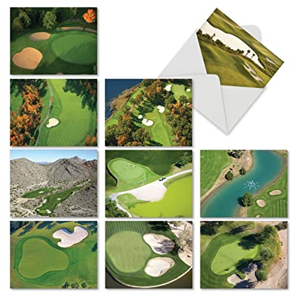 amazon com golf themed thank you greeting cards with envelopes