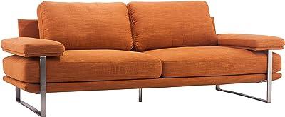 Zuo Jonkoping Sofa, Sunkist Orange