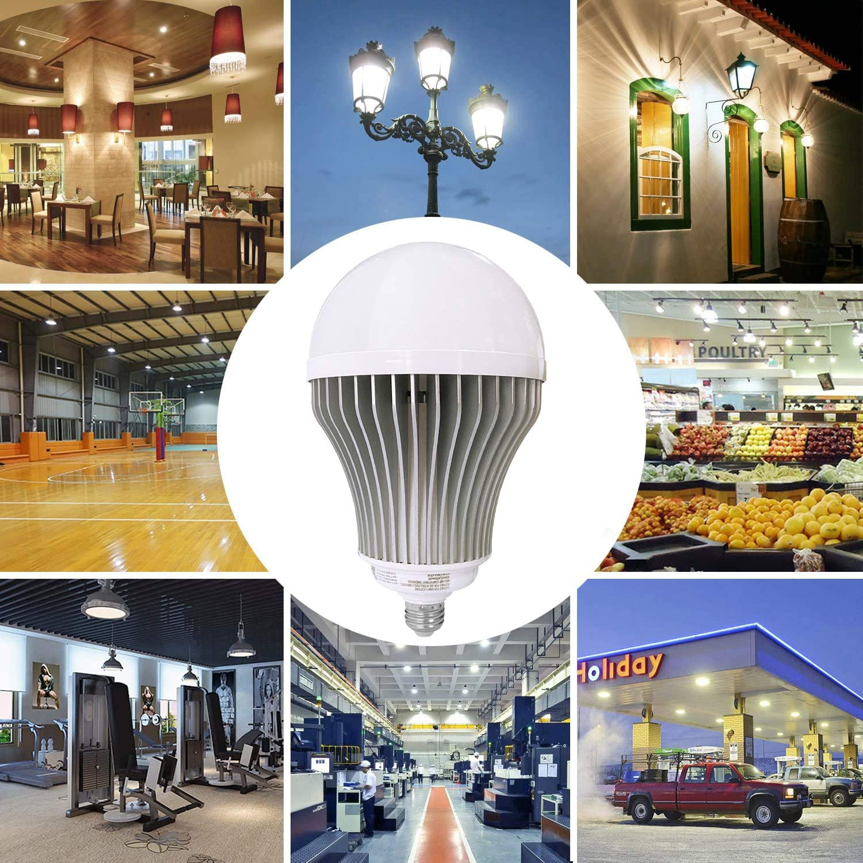 Non-Dimmable E26//E39 Mogul Base for Garage Warehouse Barn Parking Lot Area Lighting LED Light Bulb Daylight 100-600W UL Listed