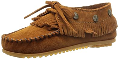 Minnetonka Fringed Moc, Mocasines Mujer, Marrón (Brown), 36