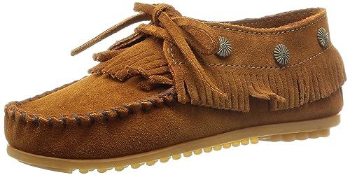 Minnetonka Fringed Moc, Mocasines Mujer: Amazon.es: Zapatos y complementos