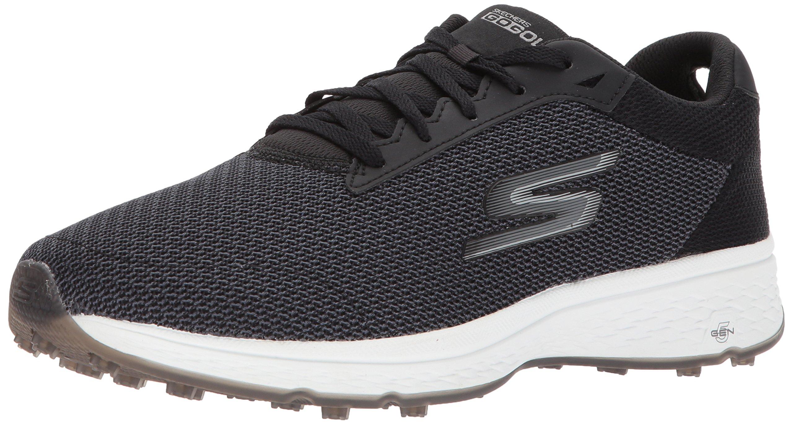 Skechers Golf Men's Go Golf Fairway Golf Shoe, Black/White, 7.5 2E US