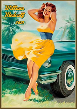Wall Calendar 2021 12 pages 8x11 Vintage Golfing Girls Sports Posters Reprint M-574