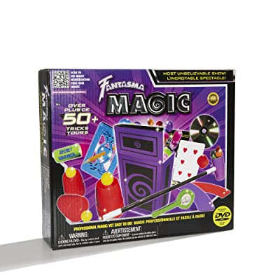 Fantasma Magic Most Unbelievable Show Set with Over 50 Tricks Including Instructional DVD: Toys & Games