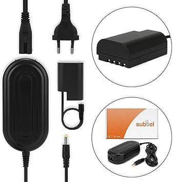 3m DMW-AC8 subtel/® Fuente alimentaci/ón Compatible con Panasonic GH5 Lumix DC-GH5s DMC-GH4 GH4 GH4r GH4h GH3 Panasonic Lumix DMC-GH3h GH3a G9 Lumix DC-G9 DMW-DCC12 Cable Cargador de Corriente