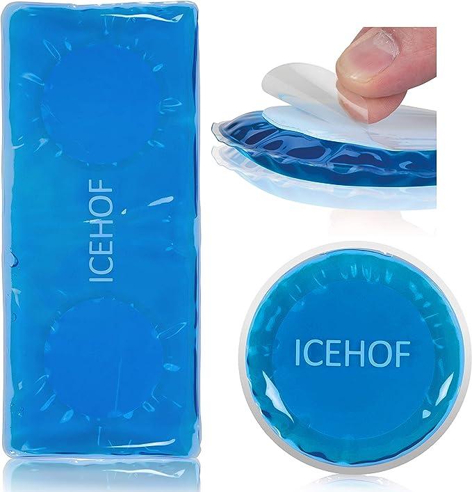 ICEHOF Hielo Gel adhesivo (3 piezas) bolsa gel frio lesiones compresas de frío y tibio autoadhesivas bolsa adhesivas reutilizables: Amazon.es: Salud y cuidado personal