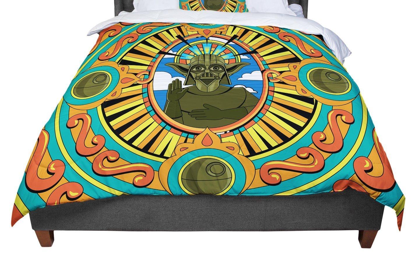 KESS InHouse RP1005ACF01 Twin Comforter Roberlan 'Darth Yoda' Star Wars Twin Comforter, 68' X 88',, [並行輸入品] B01MSF4PE0
