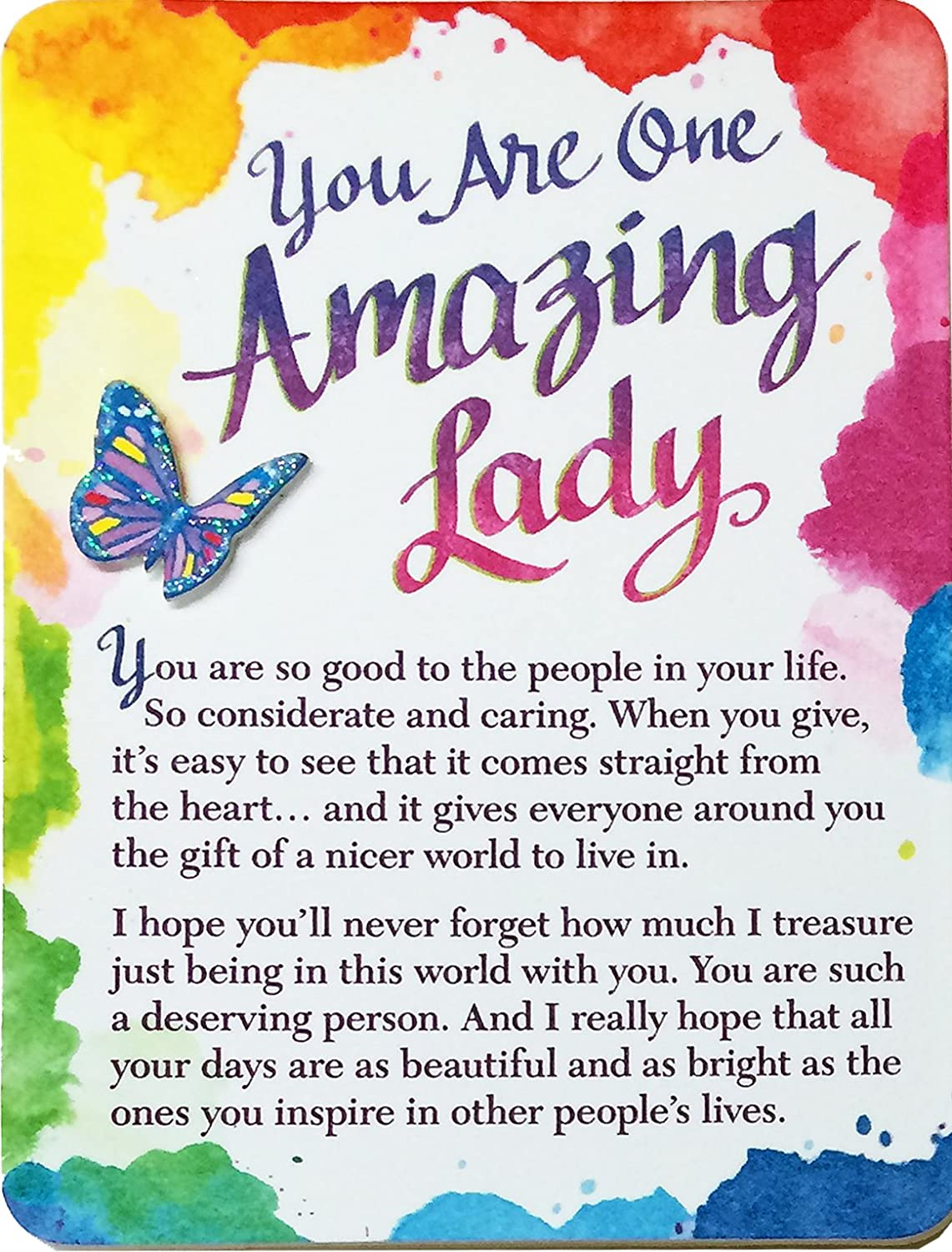 "Blue Mountain Arts Miniature Easel Print with Magnet ""You Are One Amazing Lady"" 4.9 x 3.6 in., Sentimental Mother's Day, Birthday, Anniversary, or Valentine's Day Gift Perfect for Her (MIN214)"