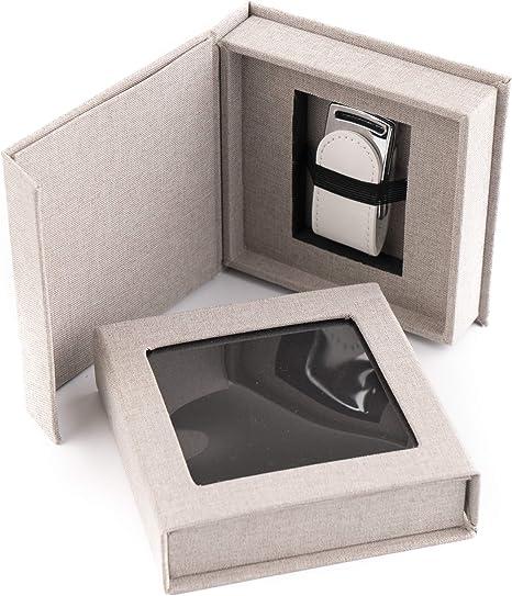 codiarts. Memoria USB 3.0 de 32 GB en Elegante Caja USB con Ventana para Fotos, para Bodas, fotógrafos, Recuerdos de Vacaciones, Regalo (Gris): Amazon.es: Hogar