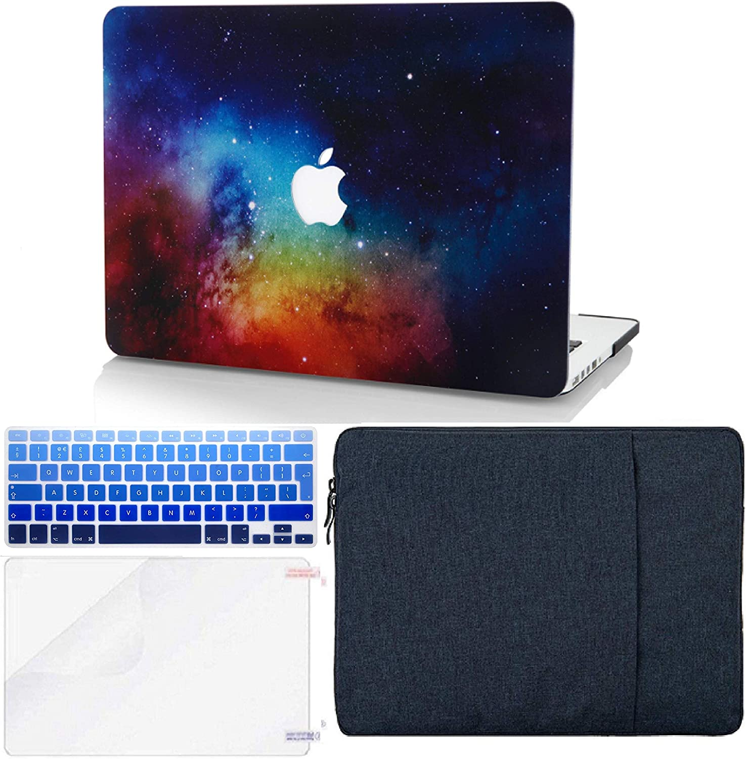 "KECC Laptop Case for MacBook Pro 13"" (2020, Touch Bar) w/Keyboard Cover + Sleeve + Screen Protector (4 in 1 Bundle) Hard Shell A2289/A2251 (Night Dream)"