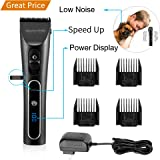 Electric Dog clipper Dog Grooming Clippers Cordless Quiet Pet Hair Clippers Professional Rechargeable Battery Low Noise Easy Safe Animal Clippers LED Screen