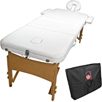 Forever Beauty Wooden Portable Massage Table 70cm - White
