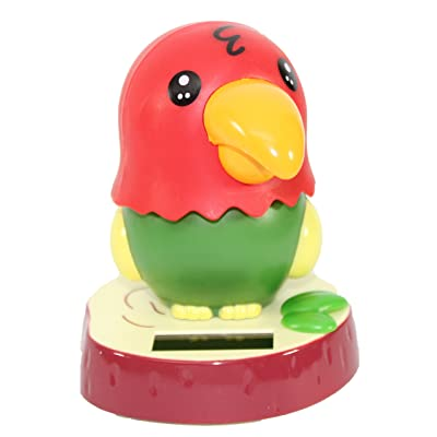 KT Dancing Parrot Bird Solar Toy Car Dashboard Desk Home Decor Birthday Holiday: Toys & Games