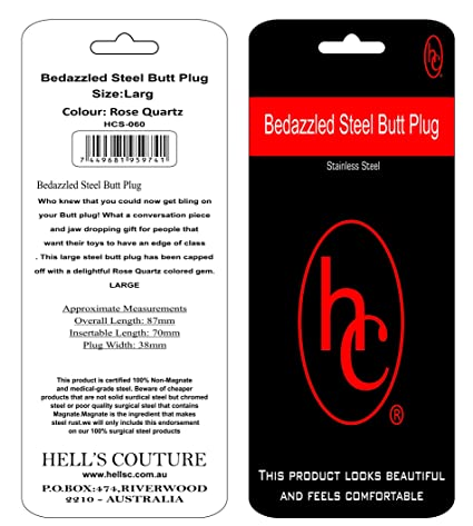 Wonderbaarlijk Amazon.com: Hell's Couture, 38mm Thick Metal Butt Plug, Tear Drop KE-58