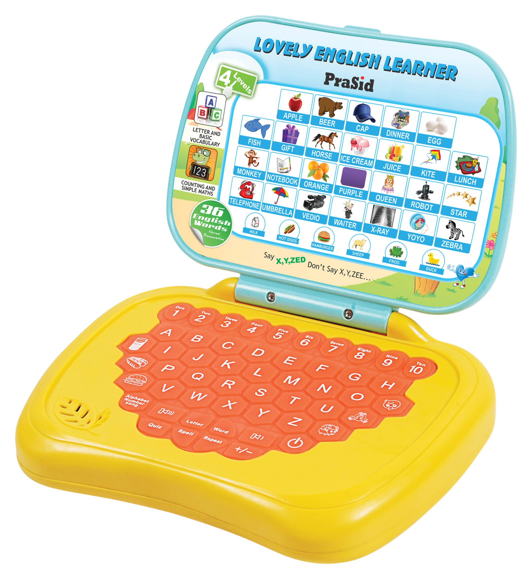 Prasid Lovely English Learner Kids Laptop, Lemon/Orange ...