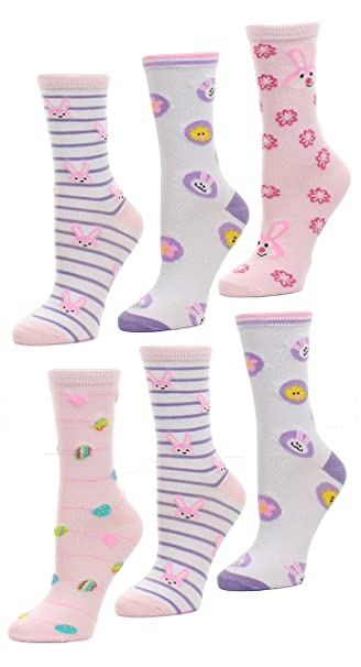 1fbad295ae4c Amazon.com  Easter Holiday Socks with Classic Easter Colors and ...