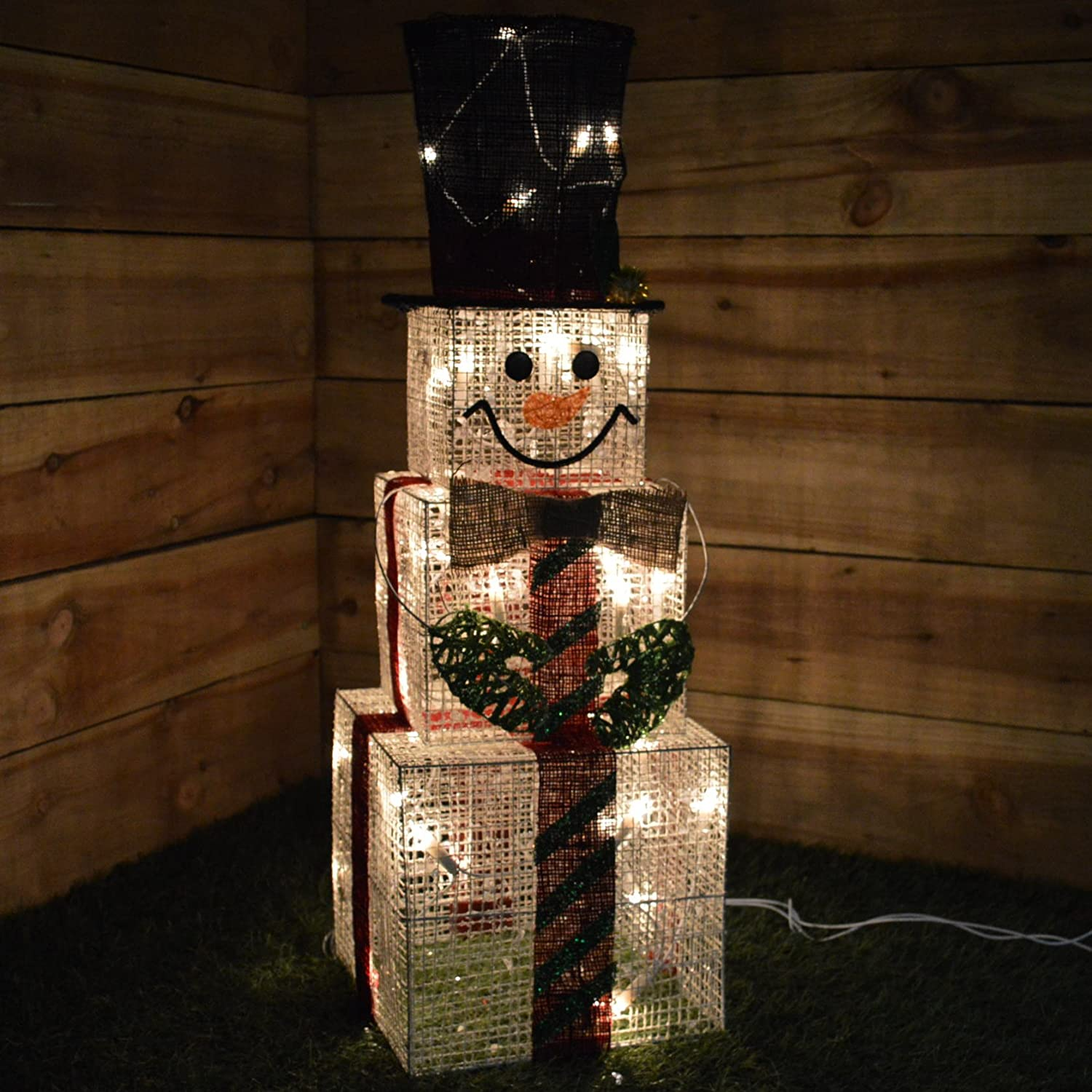 Kingfisher Indoor Square Snowman Christmas Light Figure Decoration - 75 Centimetre Tall Universal Markets Ltd