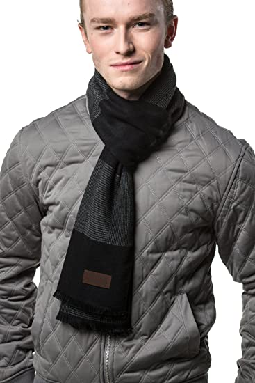 f1a236bc31b21 Gallery Seven Mens Scarf - 100% Cotton Winter Scarves fo Men - Elegantly  Gift Wrapped