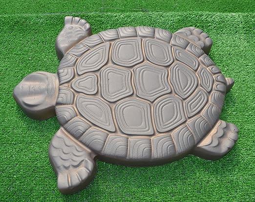 Tortuga Piedra molde hormigón cemento molde ABS Tortuga jardín camino # S02: Amazon.es: Hogar