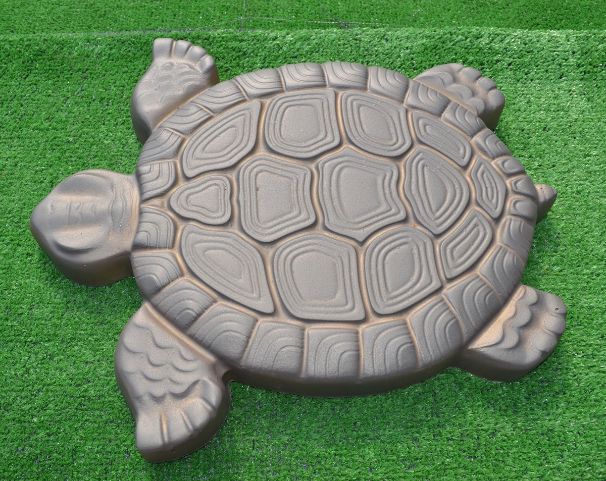Turtle Stepping Stone Mold Concrete Cement Mould ABS Tortoise garden path #S02