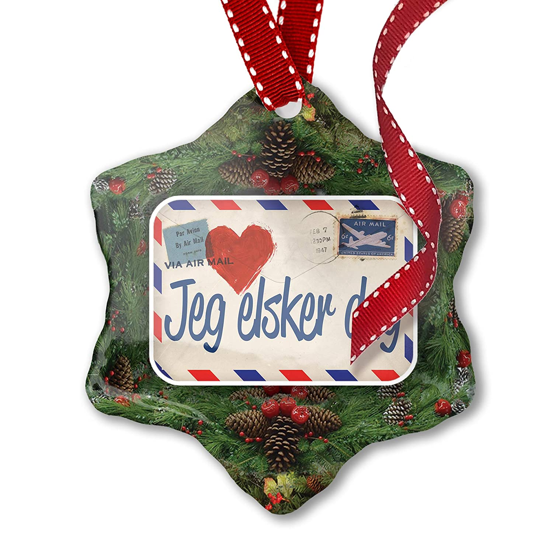 Amazon Com Neonblond Christmas Ornament I Love You