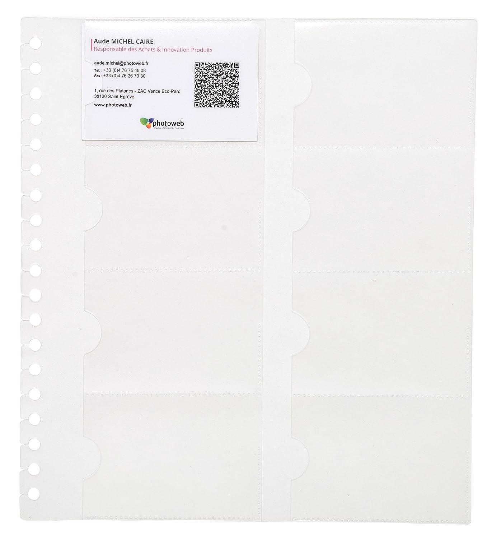 Exacompta 85234e–10buste di ricambio per EL porta-tarjetas di Visita