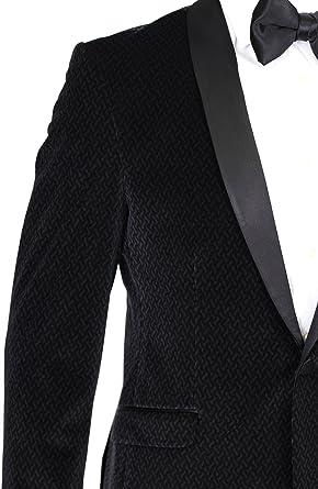 Black Patterned Velvet Dinner Jacket//Suit with Satin Lapel Giangiulio
