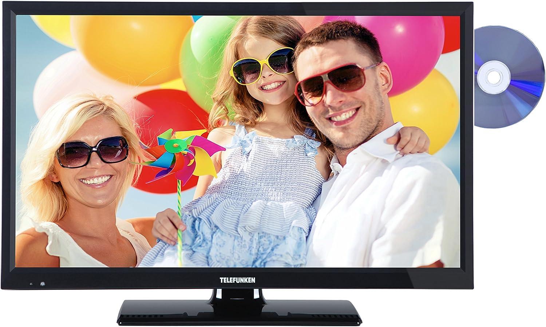 Telefunken L24H180KM3D de 63,2 cm (24 Pulgadas) TV (HD Ready, Triple sintonizador, Reproductor de DVD) Negro: Amazon.es: Electrónica