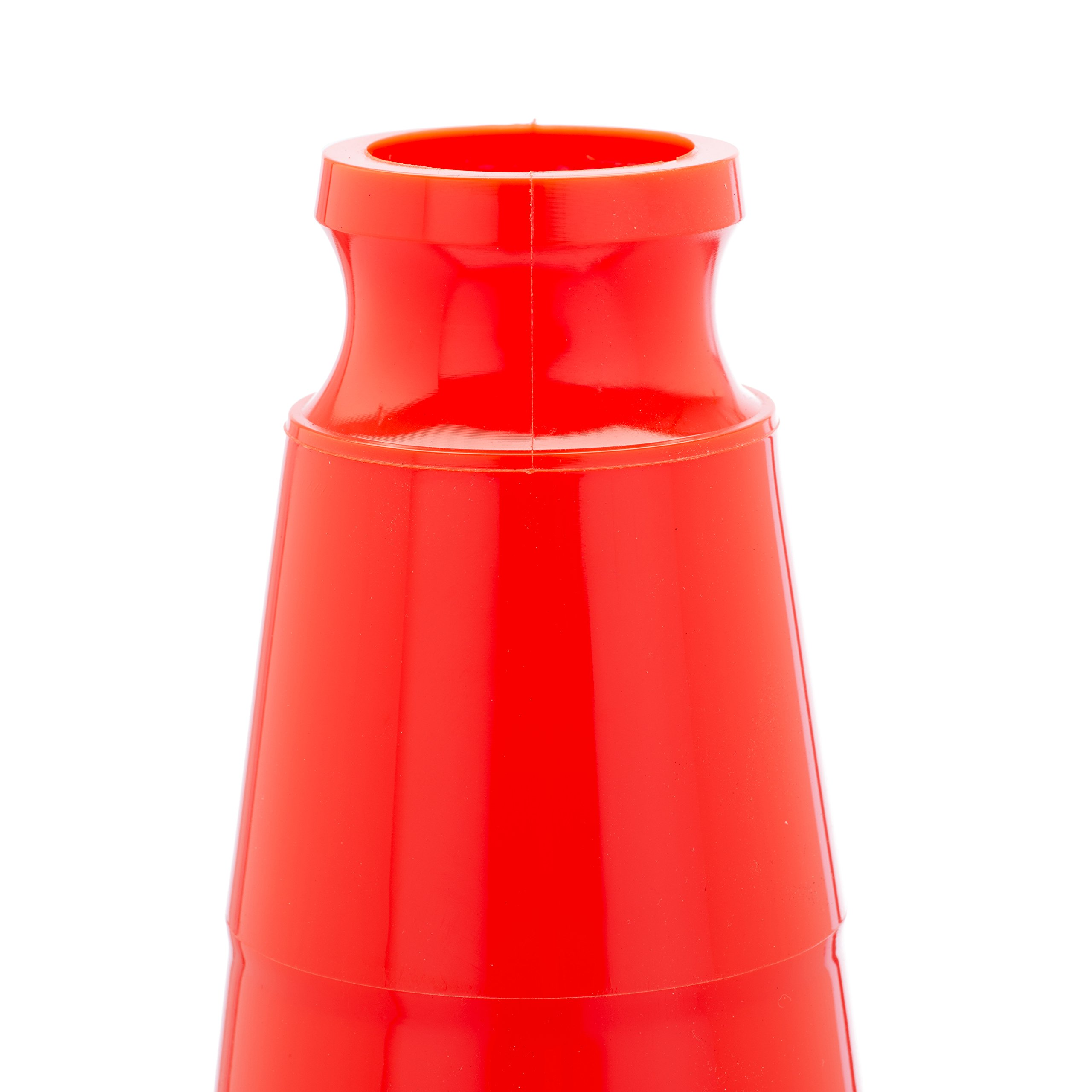 18'' Orange Traffic Safety Cones with Black Base (Pack of 24)