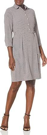 ANNE KLEIN Women's Printed Shirtdress