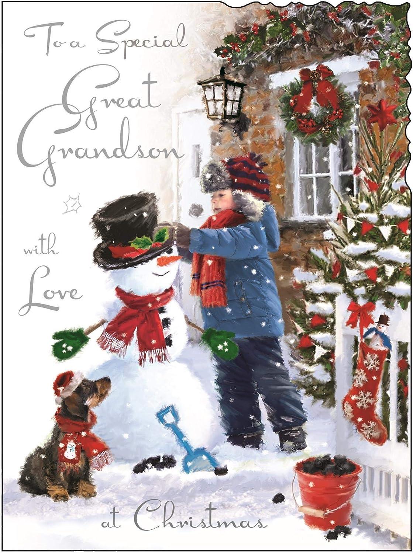 To Special Grandchildren at Christmas Christmas Card Jonny Javelin