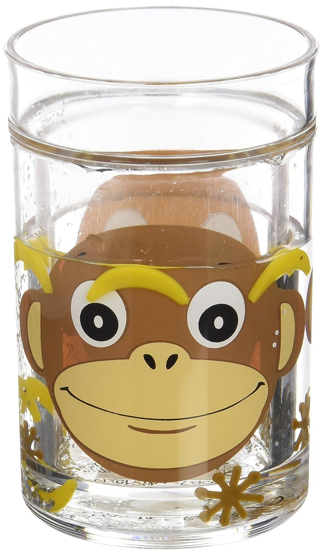 dise/ño de mono con pl/átanos flotando Vaso Epicurean Europe acr/ílico, 10,5 x 7 cm transparente