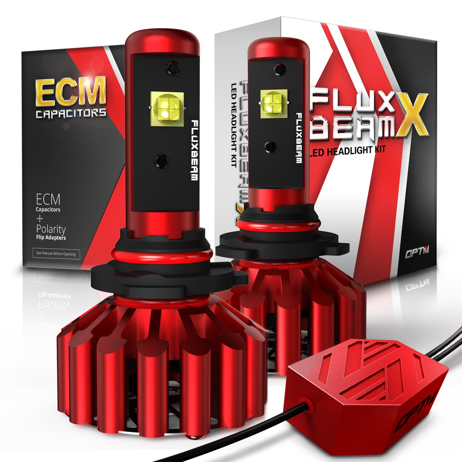 OPT7 Fluxbeam X 9005 LED Headlight High Beam Bulbs - 8,400LM 6000K Daytime White - All Bulb Sizes - 2 Year Warranty