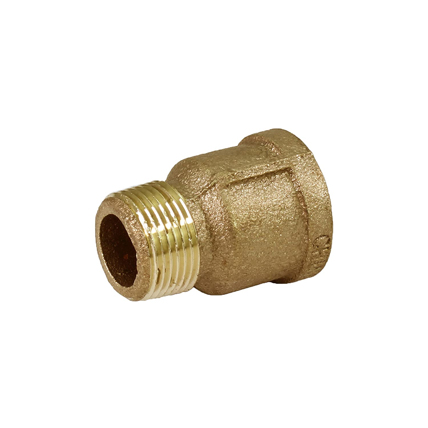 Everflow BREP0034-NL 3//4-Inch Male National Pipe Taper Brass Extension 125 LB Applications Piece Higher Corrosion Resistance Lead Free Economical and Easy to Install Everflow Supplies Brass Construction
