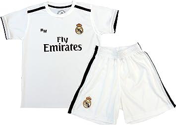 Kit Infantil Real Madrid Réplica Oficial Licenciado de la 1ª Equipación Temporada 2018-19 Sin Dorsal. TALLA 10 AÑOS.: Amazon.es: Juguetes y juegos