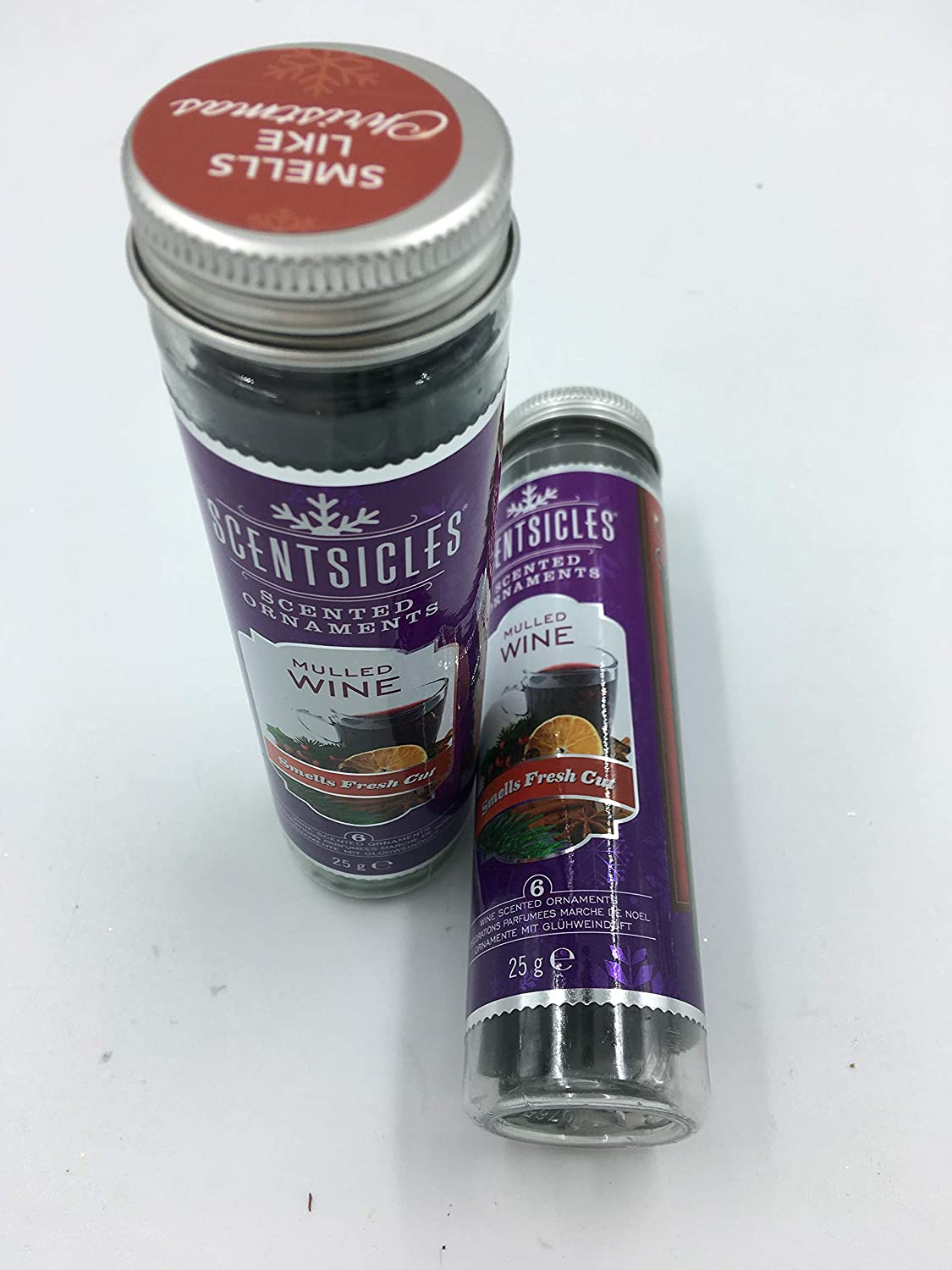 Christmas Tree Mulled Wine Scentsicles 2 Tubes of Scented Hanging Ornaments - Mulled Wine Scent Premir