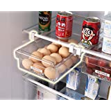 HapiLeap Fridge Drawer Organizer, Unique Design Pull Out Bins, Fridge Shelf Holder Storage Box, Small Size, Fit for Most Refr
