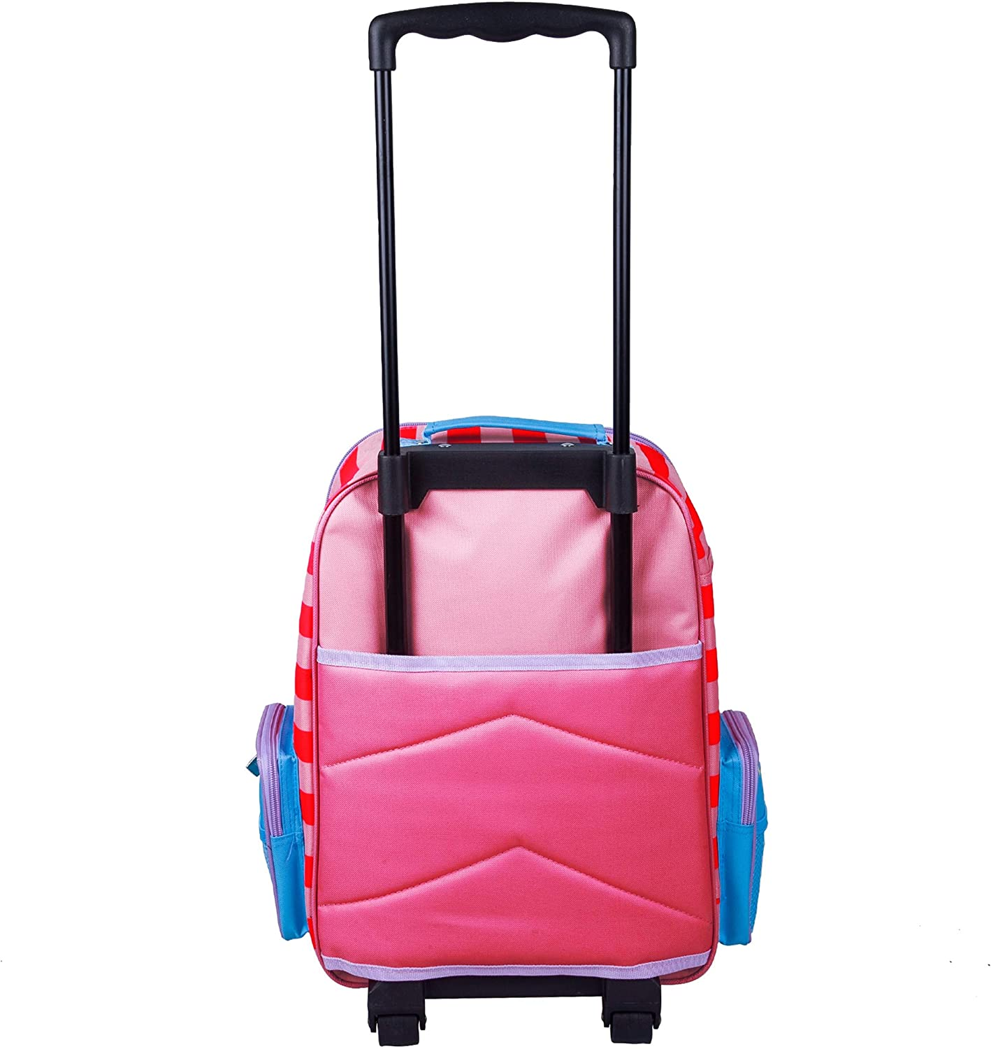 Luggage is Carry-On Size and Perfect for Overnight Travel Dinosaur Land Patterns Coordinate with Our Nap Mats and Duffel Bags Wildkin Kids Rolling Suitcase for Boys and Girls