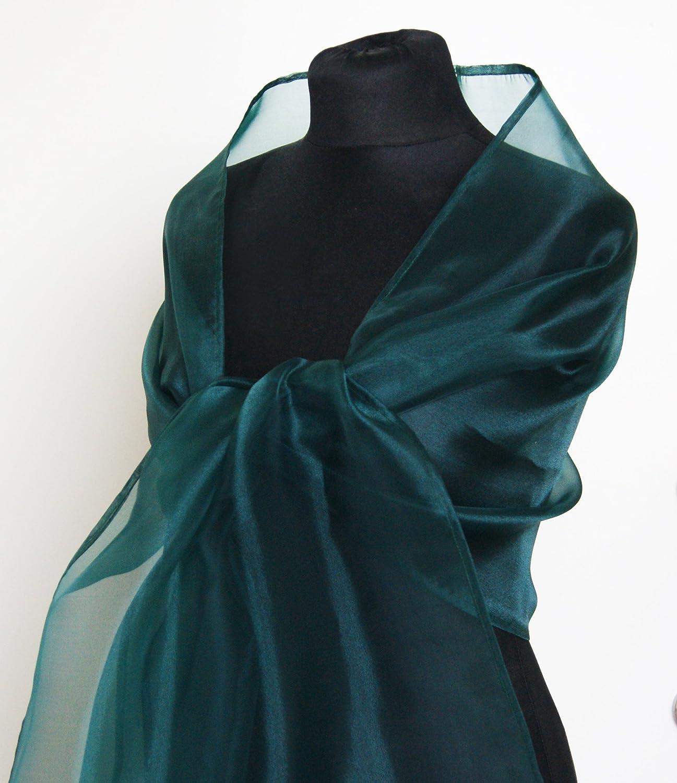 Chal organza color verde novia boda novia para vestido de fiesta: Amazon.es: Handmade