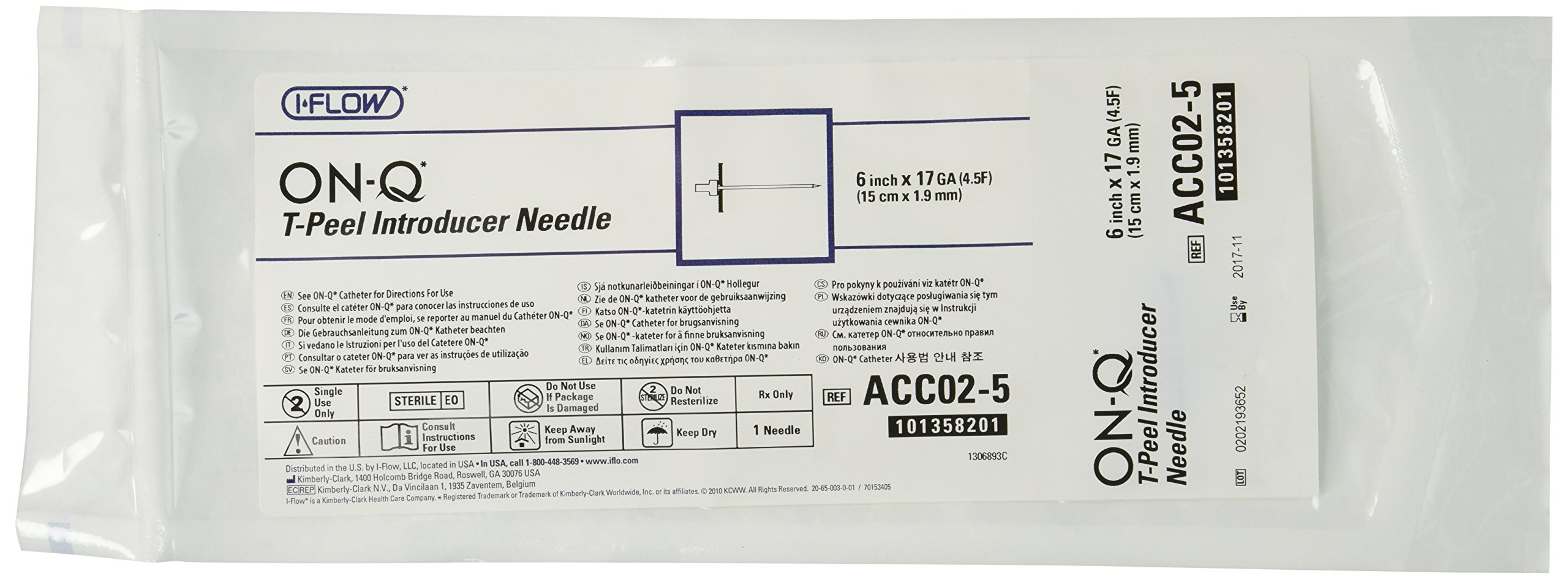 Halyard Health ACC02-5 ON-Q Introducer Needles, 6'' Length (Pack of 5)