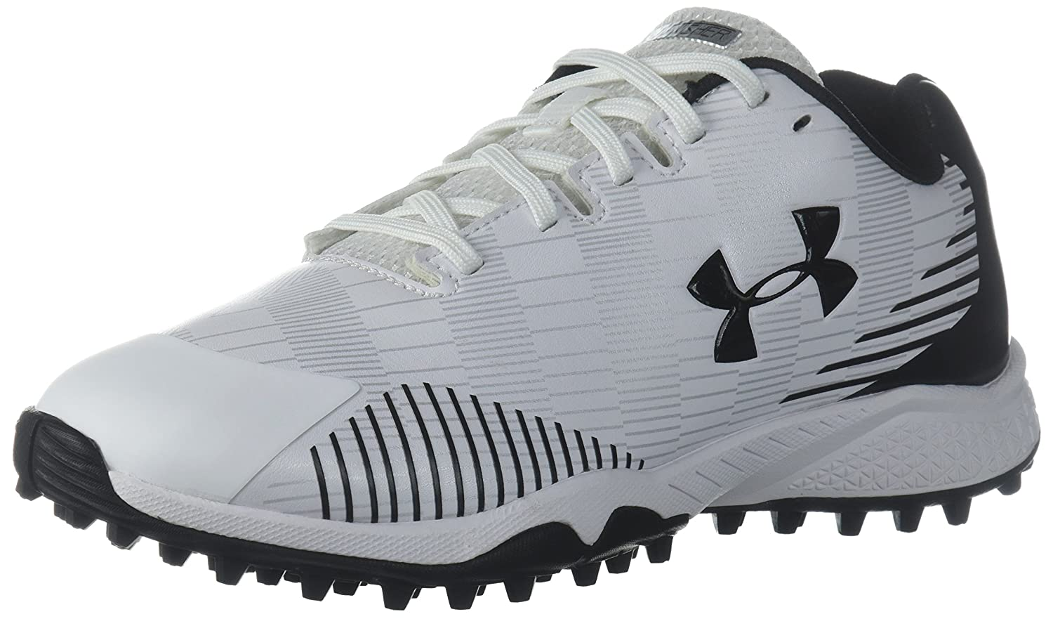 Under Armour Women's Lax Finisher Turf Lacrosse Shoe B071S8RBJ7 6 M US|White (100)/Black