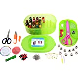 Kurtzy Sewing Kit Premium Sewing Supplies Thread with Most Useful Colors and Extra quality sewing Accessories and 2 Scissors