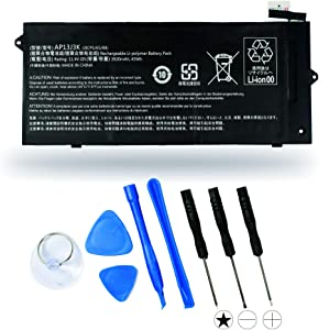 "Aluo AP13J3K Replacement Battery for Acer Chromebook 11.6"" 11 C720-2848 C720 C720P C740 3ICP5/65/88 11.25V 45WH"