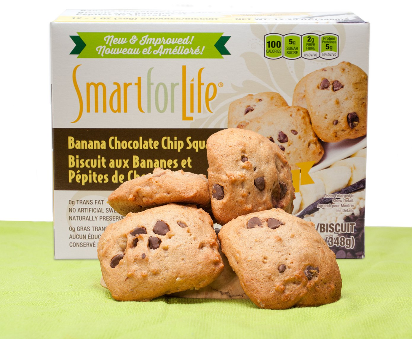 Smart For Life Banana Chocolate Chip Granola Squares, 12-Count by Smart for Life (Image #3)