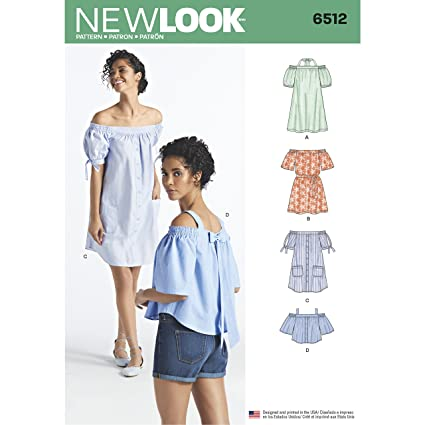 56b48d97b2f Simplicity New Look Pattern Women s Dresses and Tops in Two Lengths with  Sleeve Variations Sewing Pattern